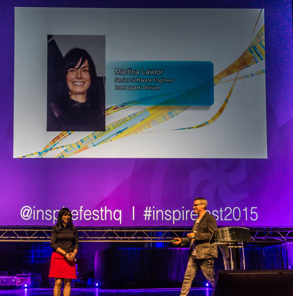 MARTINA LAWLOR PRESENTS THE INTERACTIVE BUTTERFLY DRESS [INSPIREFEST 2015]REF-105710