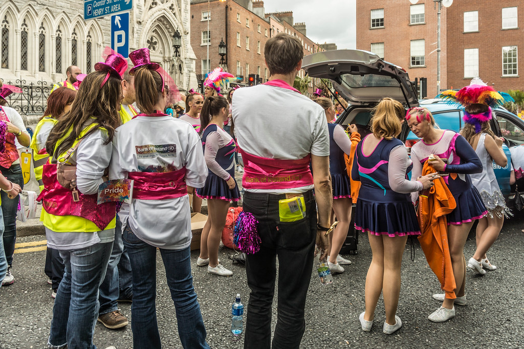 DUBLIN 2015 LGBTQ PRIDE FESTIVAL [PREPARING FOR THE PARADE] REF-106218