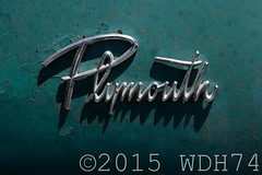 Plymouth (William 74) Tags: old classic car logo rust rusty plymouth chrome american americana aged trim collector patina