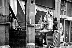 Start of art (tootdood) Tags: blackandwhite art start square manchester stevenson shutter streetcandid canon70d