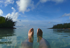 Evening peace (jonathan charles photo) Tags: sea sun holiday art feet beach relax photo legs jonathan charles bermuda topf100 idyllic bask john1427