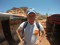 Mats posing at The top, 100 meters above Petra!