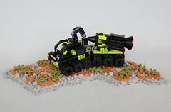 MANTIS Missile Truck (soccersnyderi) Tags: truck mantis landscape design model lego crane gates cab platform creation rig opening missile moc andromedas futuron