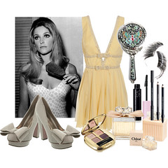 Sharon Tate Mod Chic Style by Playmate 1960 (vinvisible11) Tags: mod style sharontate polyvore playmate1960
