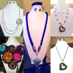 Handmade necklaces in different styles.. (ExoticDesigns) Tags: beadweaving crochet beadwork