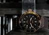 Glycine, Sub. 4 (HX5V) (Mega-Magpie) Tags: sony dschx5v hx5 hx5v cybershot indoor forklift time timepiece diver dive watch glycine combat sub special goldeneye swiss made black gold metal wristwatch
