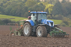 New Holland T7.235 Tractor with an Amazone ADP 303 Special Seed Drill & Power Harrow and HE-VA 150 Front Press (Shane Casey CK25) Tags: new holland t7235 tractor amazone adp 303 special seed drill power harrow heva 150 front press shannagarry winter wheat sow sowing set setting drilling tillage till tilling plant planting crop crops cereal cereals county cork ireland irish farm farmer farming agri agriculture contractor field ground soil dirt earth dust work working horse horsepower hp pull pulling machine machinery grow growing nikon d7100 onepass one pass