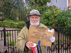 The Other Side - (Irene - HAPPY NEW YEAR) Tags: begging street streetscenes streetsoflasvegas streets veteran poverty man outdoor outdoors outdoorscenes lasvegasnv