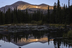 When Lights Are Low (courtney_meier) Tags: abieslasiocarpa bouldercounty colorado coloradorockies frontrange indianpeaks indianpeakswilderness mountaudubon redrocklake rockymountains southernrockies subalpinefir lake mountains reflection water