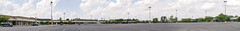 the empty mall around the empty parking lot... (Nicholas Eckhart) Tags: america us usa retail stores ohio oh jeffersonville jeffersonvillecrossing outletmall outlets deadmall empty vacant panoramic