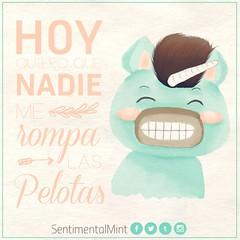 Que nadie me rompa las pelotas (SentimentalMint) Tags: cotidianidad unicornio verde menta cute dibujo español fin de año frases ilustracion kawaii quotes rompe pelotas