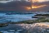 Sunday morning (Nesho83) Tags: amazing wow rays morning dawn sunrise sun water sea ocean waves clouds sky summer australia sydney beach coogee rockpool