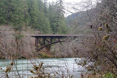 The historical Mott Bridge means we are just about done hiking (rozoneill) Tags: umpqua national forest north trail mott panther tioga segment oregon hiking backpacking douglas county glide idleyld park roseburg