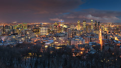 Lights of Montreal at 18mm (Stefan Sellmer) Tags: outdoor night kanada d750 architecture bluehour wow nightlight twilight montreal montroyal canada nikkor skyline cityscape clouds montréal québec ca