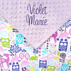 Forest Animals Baby Blanket (SouthernSassyPants) Tags: southernsassypantsonetsy minkybabyblanket personalizedminkyblankets embroidered giftsbaby babyshowergift customtoddlerblanket