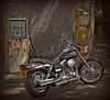 Gas Station Blues.. (Harleynik Rides Again.) Tags: gasstation fxdwg3 customwideglide hd harley bike harleynikridesagain