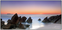 Zenith Dawn (juliewilliams11) Tags: bright beach water sky light rocks sand photoborder ocean longexposure nd8 dawn sunrise coast contrast cokin gnd portstephens newsouthwales australia
