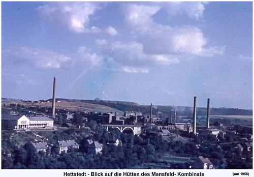 Hettstedt - Blick zur Kupferhütte  (um 1958)