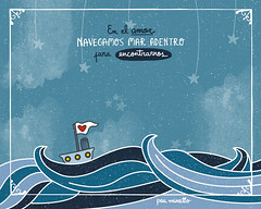 Navegar (pau.minotto) Tags: boat sail navegar viaje trip illustration ilustración draw dibujo digitalart love lovers amor enamorado pauminotto