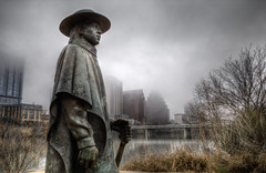 Sunday (ByronF) Tags: byronf austin texas canon 70d winter clouds mist misty morning weekend dreary rain cold wet downtown stevie ray vaughan statue stevierayvaughan