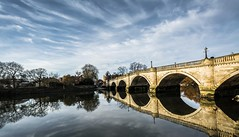 Richmond Bridge... (johngregory250666) Tags: river thames richmond bridge surrey blue reflections sky clouds trees 2017 january outdoor london uk england nikon d5200 nikkor tree green winter landscape path urban imagesofendlland