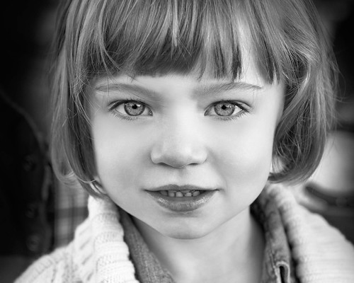 Black and White Fine Portrait in Oklahoma