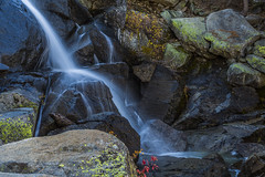 Tioga Pass waterfall (Fred Moore 1947) Tags: california easternsierra geographicfeatures sierranevada tiogapass landscape mountains rocks stream waterfall waterscape unitedstates us
