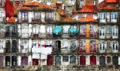 Berge du Douro à Porto 3 (Xtian du Gard) Tags: douro porto werneraustria painting portugal digitalpainting art urban colors couleurs digiart xtiandugard