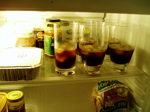 iced coffees lined up