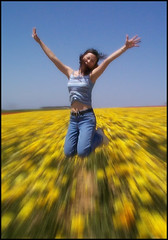 Jump for Joy (arkworld) Tags: happy interestingness jump jumping emotion jane joy interestingness2 carlsbadflowerfield explore22feb06 exploretop10