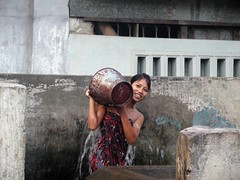 Mandalay - Girl Bathing.1 (Sam's Exotic Travels) Tags: people shower sam burma myanmar sams mandalay travelphotos samsays samsexotictravelphotos exotictravelphotos samsayscom