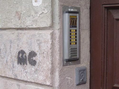 Street Stencil Graffiti - Action PacMan (Tamarit Street - Barcelona)