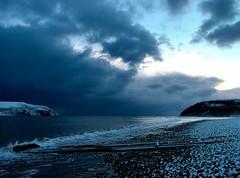 Snow clouds over the Sutors (ccgd) Tags: blue snow clouds sunrise scotland highlands cromarty sutor snowclouds i500 coastuk