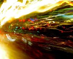 Splosiveness (wouldpkr) Tags: road street longexposure light motion blur reflection wet car rain night movement vehicle streaks kineticphotography