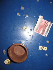 dice (weef kichards) Tags: blue dice money game max table bucket play cash gamble rolling