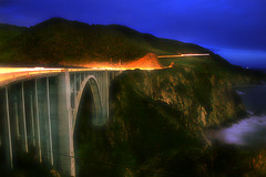 Bixby Creek Bridge (vinceandcarla.com) Tags: bridge night creek coast monterey highway nightshot pacific central bigsur highway1 lighttrails centralcoast zigzag pacificcoast bixby bixbybridge pacificcoasthighway bixbycreekbridge montereypeninsula