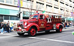 Vintage GMC 1941 Fire Truck in the St. Patrick's Day Parade (blmiers2) Tags: street city red people urban irish ny newyork color canon geotagged other parades powershot parade rochester firetruck patricks g6 stpatrick saintpatricks stpatricks stpatricksday classictruck rochesterny stpattysday stpaddysday saintpatricksday stpatricksdayparade paddysday saintpatrick stpatrickday saintpatrickday stpatricksparade irishday stpattysdayparade stpatricksdaycelebrations happystpatricksday stpatricksday2006 stpatrickdayparade vintagefiretruck stpatricksdaycelebration stpatricksdaydecorations stpatricksdaycostume stpatricksdaycostumes stpatricksdayevents stpatricksdayparades blm18 blmiers2