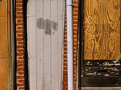 max... (bruce grant) Tags: wood brick philadelphia stone graffiti pipes tags textures walls plywood sansomstreet