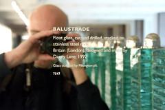 Balustrade (Leo Reynolds) Tags: camera sculpture reflection me glass canon eos 350d f56 iso1600 balustrade selfie dannylane 44mm 1ev hpexif 001sec leol30random xratio32x xleol30x groupnot365