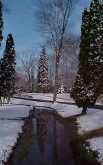 Waiting....Morning Crispness (deu49097) Tags: park trees snow reflection spectacular stream michigan vicksburg specnature
