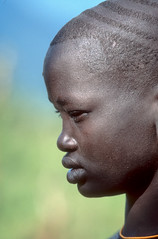 Surma girl in profile (foto_morgana) Tags: ethiopia surma tribes portraits kibish africa girl profileview tribal ethnic