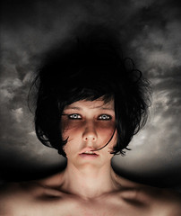 storm (seventytw0dpi) Tags: portrait woman storm face clouds kara self hair vernissage
