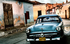 classic cuban blues (Mr.  Mark) Tags: street old blue color colour deleteme9 car wow perfect savedbythedeletemegroup decay been1of100 cuba colonial fv5 saveme10 500v50f 600 trinidad hotrod 1960s topf600 1500v60f nothdr 3000v120f flickrchallengegroup markboucher world100f ford1954