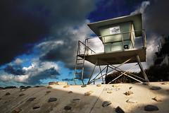 No lifeguard on duty (fd) Tags: ocean california tower beach bravo lifeguard oceanside lightproofboxcom