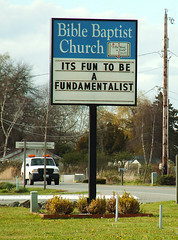 It's Fun To Be A Fundamentalist