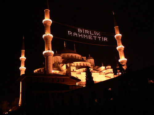 Sultan Ahmet Camii (Blue  Mosque) at nite