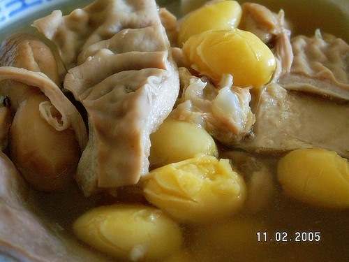 Pig's maw (stomach) soup with gingko