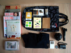 what's in my bag (superlocal) Tags: bag notebook sweater ipod buttons sony tripod stickers cybershot photoblog seoul danish mobilephone muji headphones brutus gr whatsinyourbag magazines badges sel photolog whatsinmybag tote ricoh annotation notepad manfrotto woodwood  grd mostnotes soen superlocal mmmg seoulphotoblog princesstina visions60s redcloudy seoulphotolog koreanphotoblog koreanphotolog superlocalthings