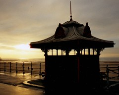 Sunset view (Jaxpix50) Tags: sunset coast tag2 tag1 lancashire scanned shelter blackpool jaxpix50 jackiehsouth