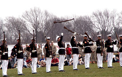The Marine Corps Silent Drill Team (Sister72) Tags: usa newjersey fantastic marine nj rifles professional gloves marines uniforms monmouthcounty sister72 drillteam marinecorps drill medals excellence unitedstatesmarinecorps coltsneck monmouthcountynj silentdrillteam bayonets april12006 coltsneckhighschool servicetoamericaday marinecorpssilentdrillteam freeholdregionalhighschooldistrict navyjrotcacademy meninuniforms